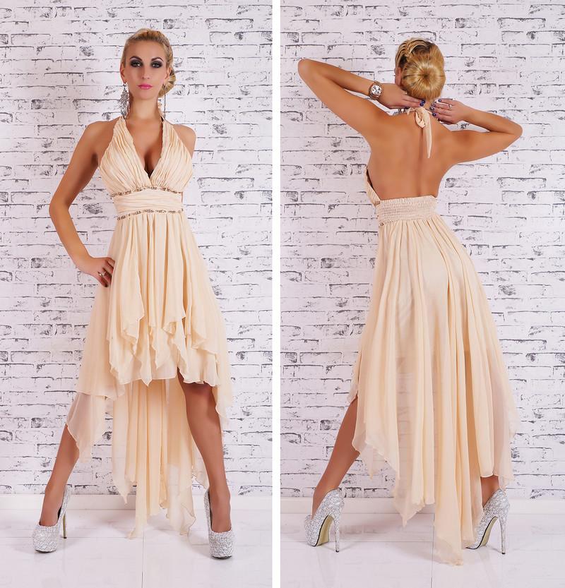 22263a2fe3d8 Dlouhé plesové šaty -béžové - EU - Večerní šaty a koktejlové šaty ...