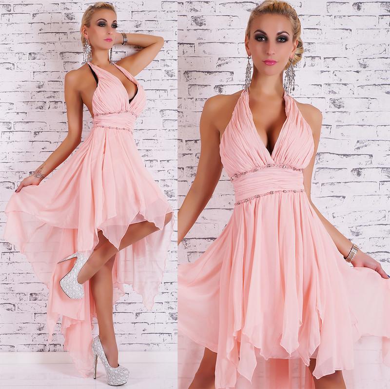 7c19a7fb047f Dlouhé plesové šaty růžové - EU - Večerné šaty a koktejlové šaty ...
