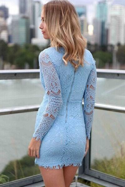 6ab77b3e4c44 Krajkové šaty - modré - DAMSON - Večerné šaty a koktejlové šaty ...