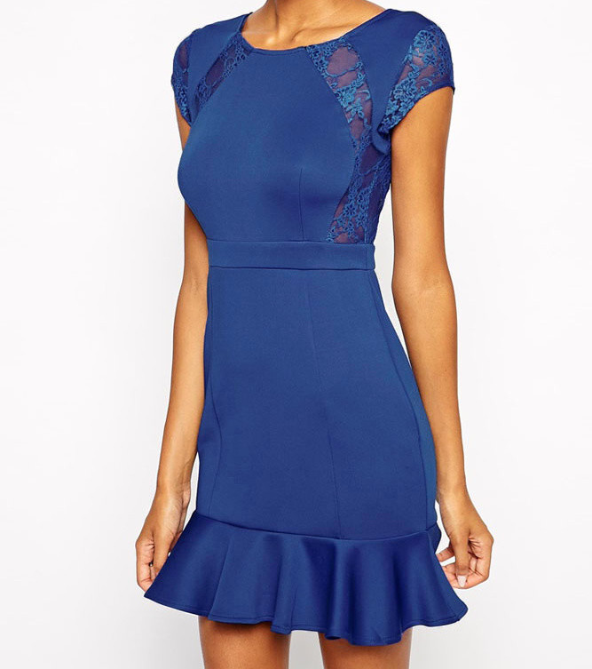 31551ada2a03 Modré dámske šaty - DAMSON - Večerné šaty a koktejlové šaty - vasa ...