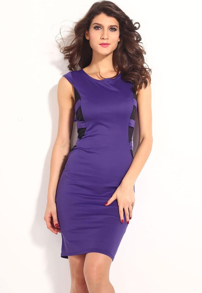 1a77bad038ce Fialové dámské šaty - DAMSON - Večerní šaty a koktejlové šaty - i ...