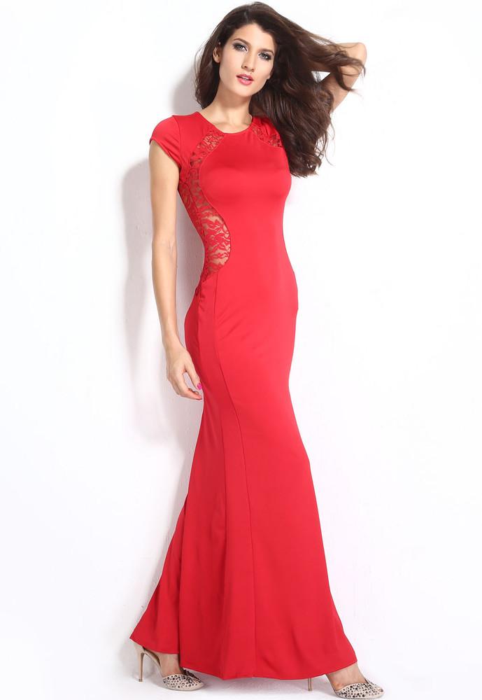 132331fd12ca Dlhé společenské šaty červené - DAMSON - Večerné šaty a koktejlové ...