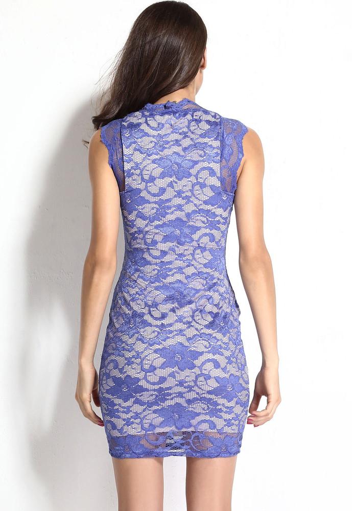 60cf7e9b5244 Krajkové šaty modré - DAMSON - Večerné šaty a koktejlové šaty - vasa ...