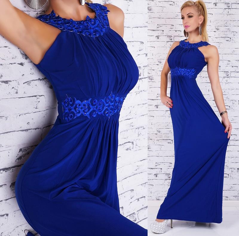 45757e448af9 Elegantní plesové šaty - modré - EU - Dlhé plesové šaty - vasa-moda.sk
