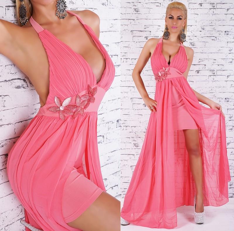 8b9e066ad196 Plesové šaty růžové - EU - Večerné šaty a koktejlové šaty - vasa-moda ...