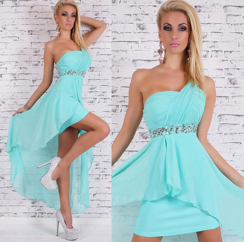 9562390e021a Dámské společenské šaty - modré - EU - Krátké plesové šaty - i-moda.cz