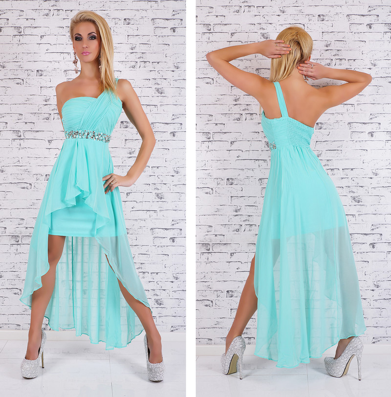 94d6c865ebe5 Dámske spoločenské šaty - modré - EU - Krátke plesové šaty - vasa ...