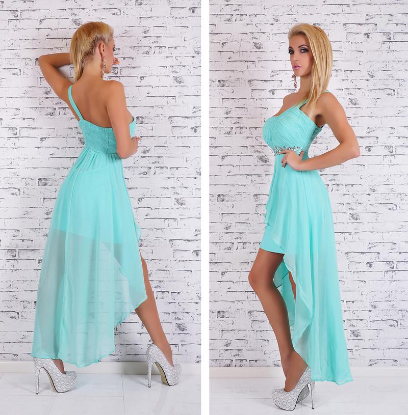 dbfbab35f4f6 Dámske spoločenské šaty - modré - EU - Krátke plesové šaty - vasa ...