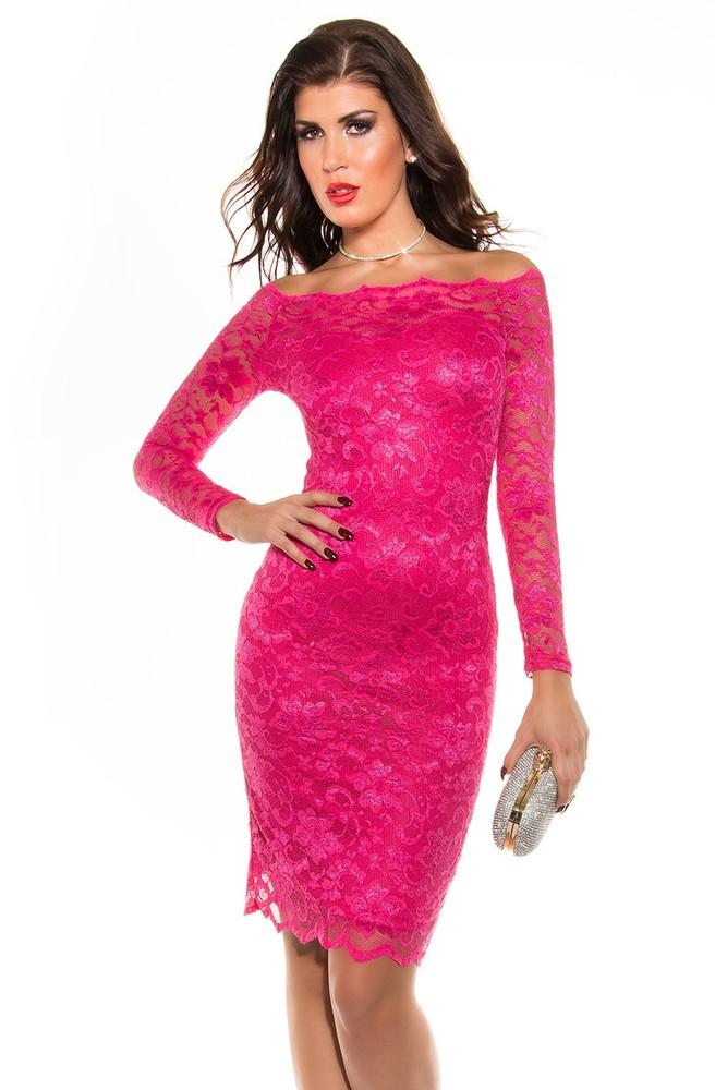 3a8de9c69697 Večerní krajkové šaty - růžové - Koucla - Večerní šaty a koktejlové šaty ...