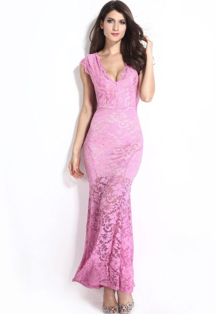d7aa29fb55e4 Dlouhé krajkové sexy šaty - DAMSON - Večerní šaty a koktejlové šaty ...