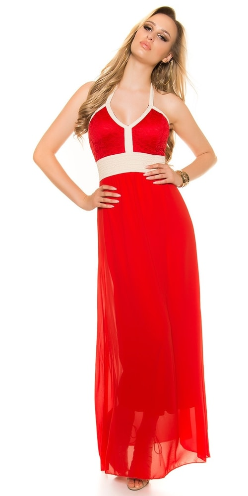 d6ea206f770b Červené trendy šaty - Koucla - Dlhé letné šaty - vasa-moda.sk