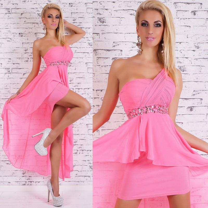 fd98318fe429 Růžové plesové šaty - EU - Krátke plesové šaty - vasa-moda.sk
