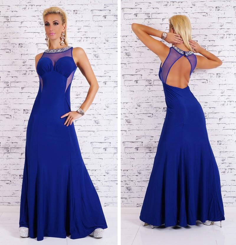 745040496e4f Dámské večerní šaty modré - EU - Večerní šaty a koktejlové šaty - i ...