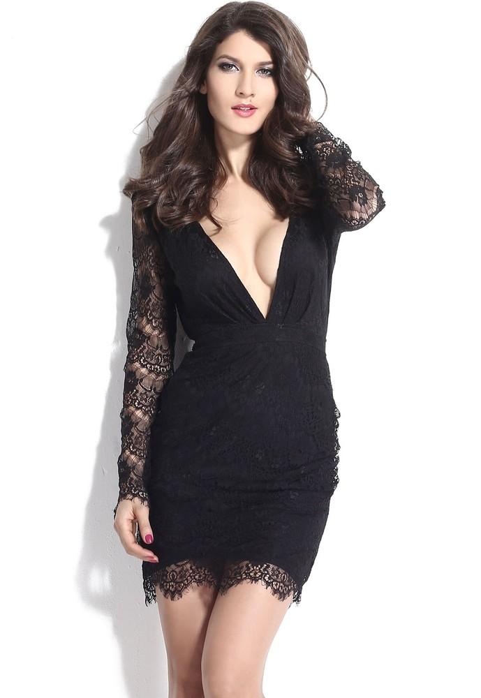 323c01cca76b Černé krajkové minišaty. Domů ›  Dámské šaty ›  Společenské šaty ›  Večerní  šaty a koktejlové ...