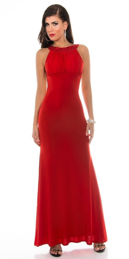 64a812b2df99 Červené plesové šaty - Koucla - Dlhé spoločenské šaty - vasa-moda.sk