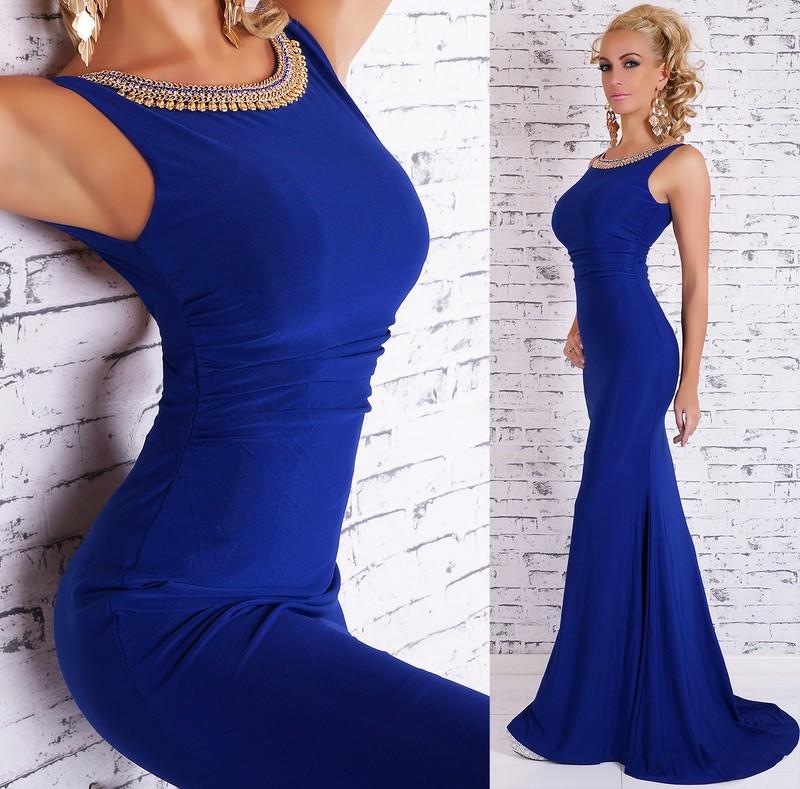 05a43b90ae75 Večerné šaty dlhé - modré - EU - Večerné šaty a koktejlové šaty - vasa ...