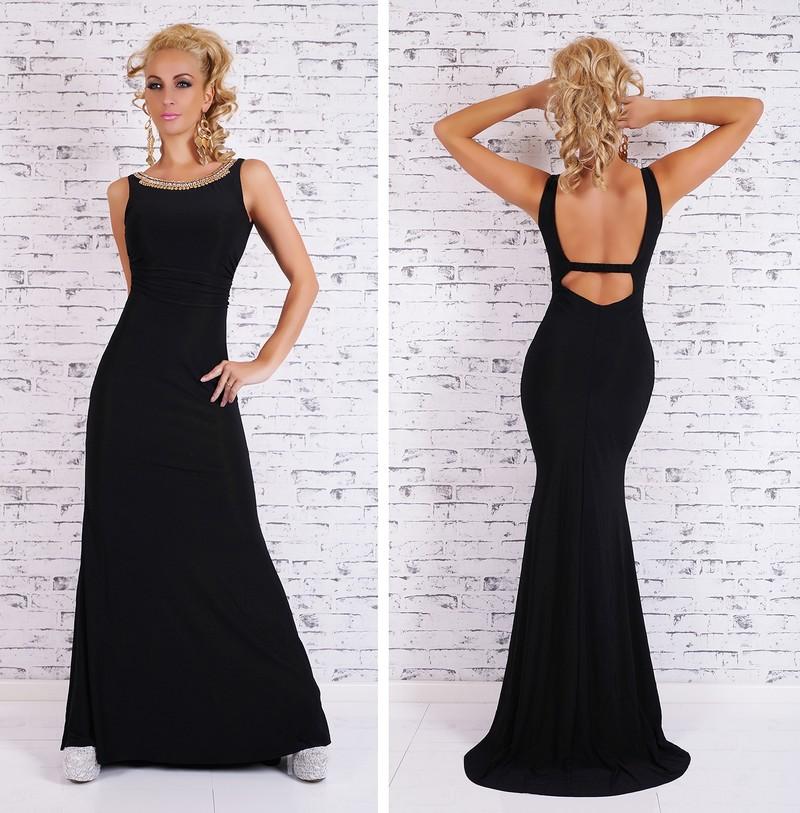 7efe3588a Čierne elegantné šaty dlhé - EU - Večerné šaty a koktejlové šaty ...