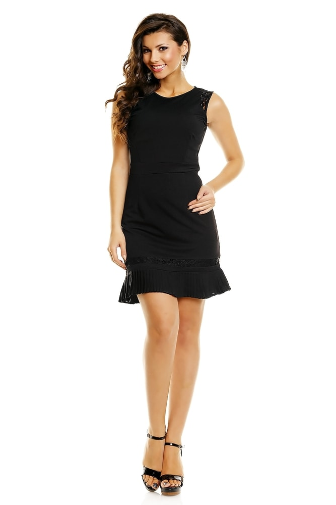 6df6a4e38c0c Čierne koktejlové šaty - Mayaadi - Večerné šaty a koktejlové šaty ...