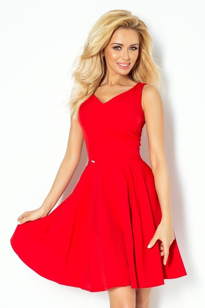 4acc0aa2a595e Červené dámske šaty 114-3 - Numoco - Večerné šaty a koktejlové ...