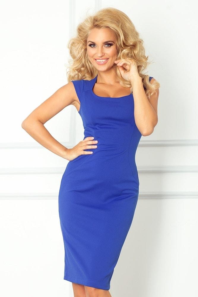a3a76dbe09a7 Modré elegantné šaty 53-10A - Numoco - Business šaty - vasa-moda.sk