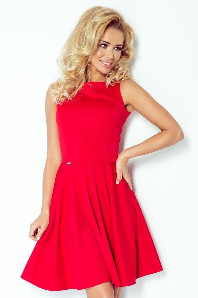 086cf1e3b091 Dámské červené šaty 98-2 - Numoco - Večerní šaty a koktejlové šaty ...