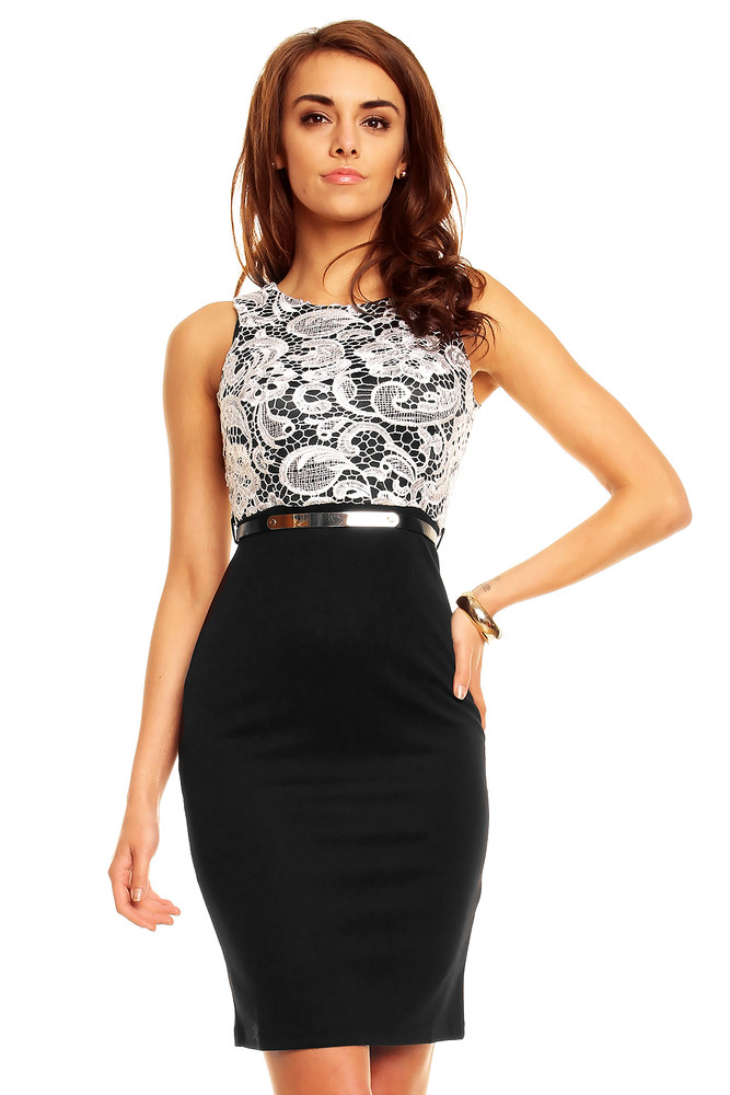 2610b4e02c51 Černé pouzdrové šaty - Emamoda - Večerní šaty a koktejlové šaty - i ...
