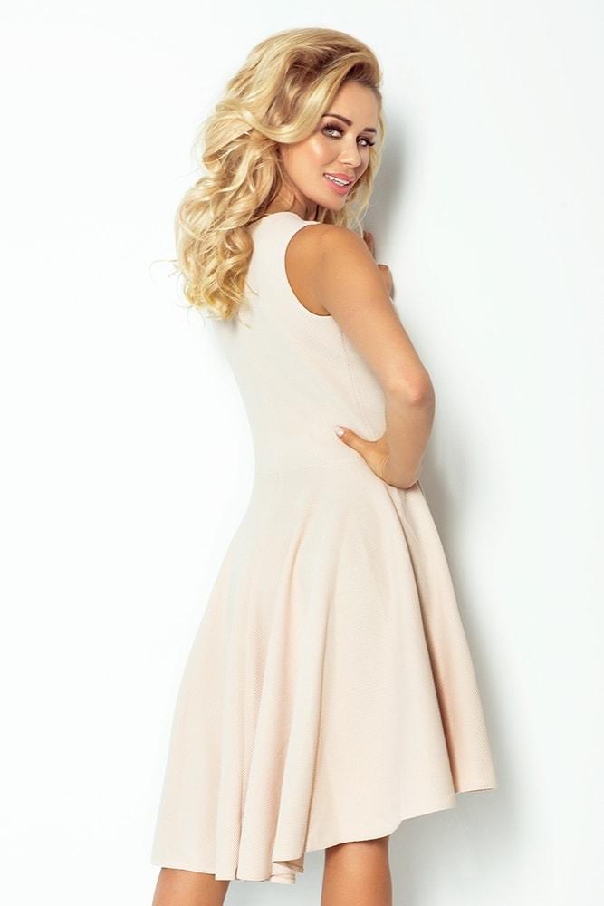 fbc08a73933d Béžové elegantné šaty 66-8 - Numoco - Večerné šaty a koktejlové šaty ...