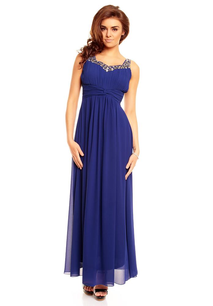 27d9fba5f9c2 Dlouhé společenské šaty - modré - EU - Dlhé spoločenské šaty - vasa ...