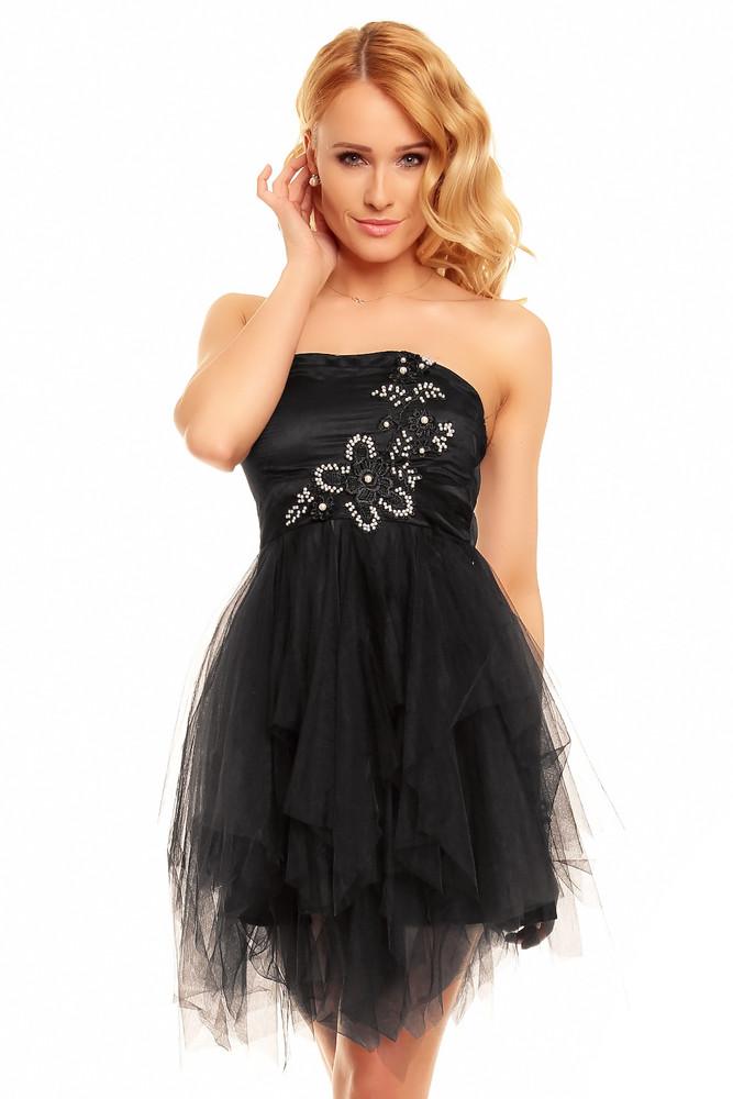 768194763cc0 Plesové šaty krátké - černé - Ethina - Večerné šaty a koktejlové šaty ...