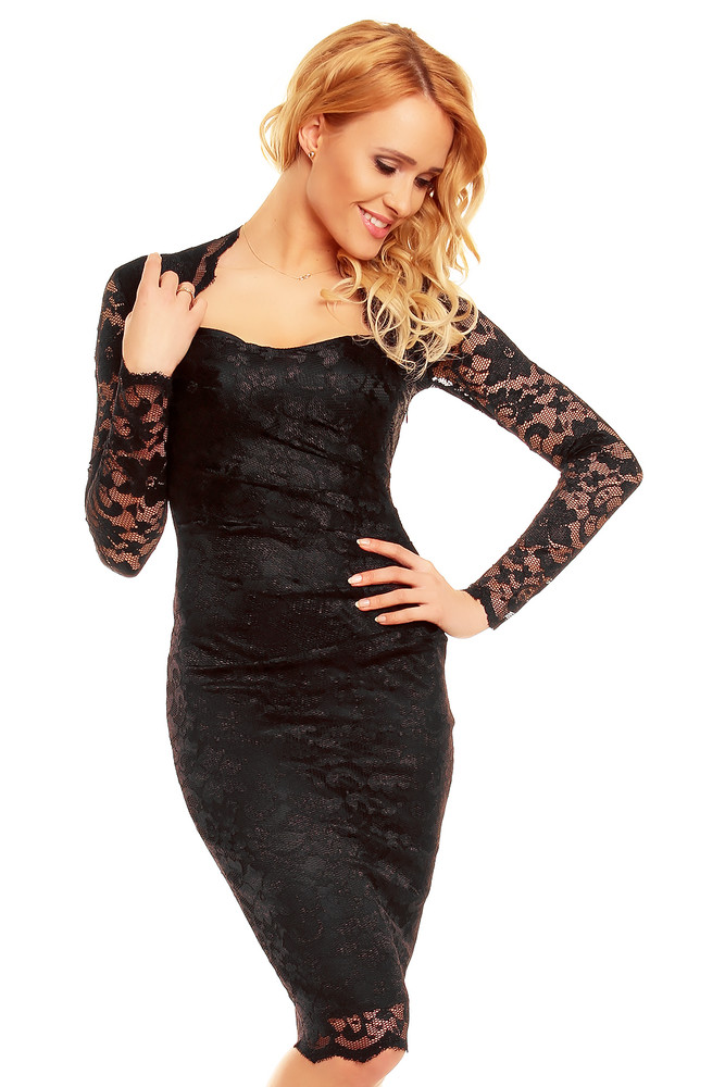 d340bd126a39 Čipkované čierne šaty - Mayaadi - Večerné šaty a koktejlové šaty ...