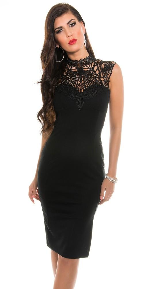 cf9eb0fe9 Čierne šaty do spoločnosti - Koucla - Večerné šaty a koktejlové šaty ...