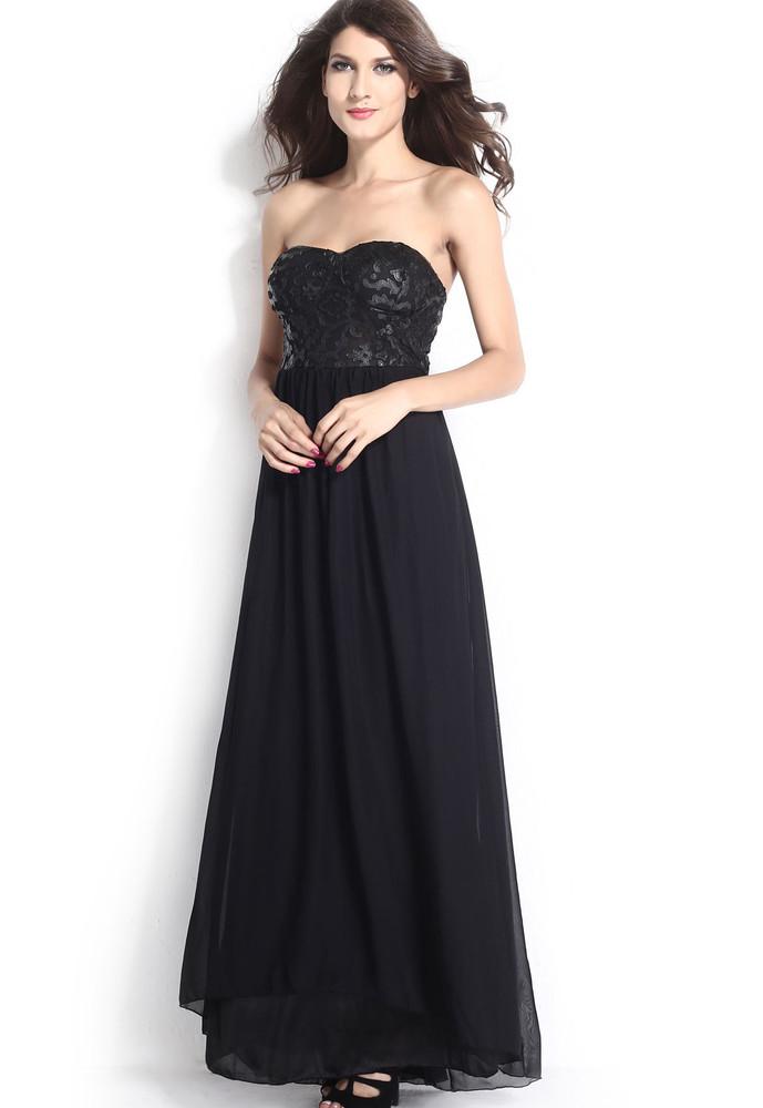 cdbe6134b07f Dlouhé společenské šaty černé - DAMSON - Dlouhé plesové šaty - i ...