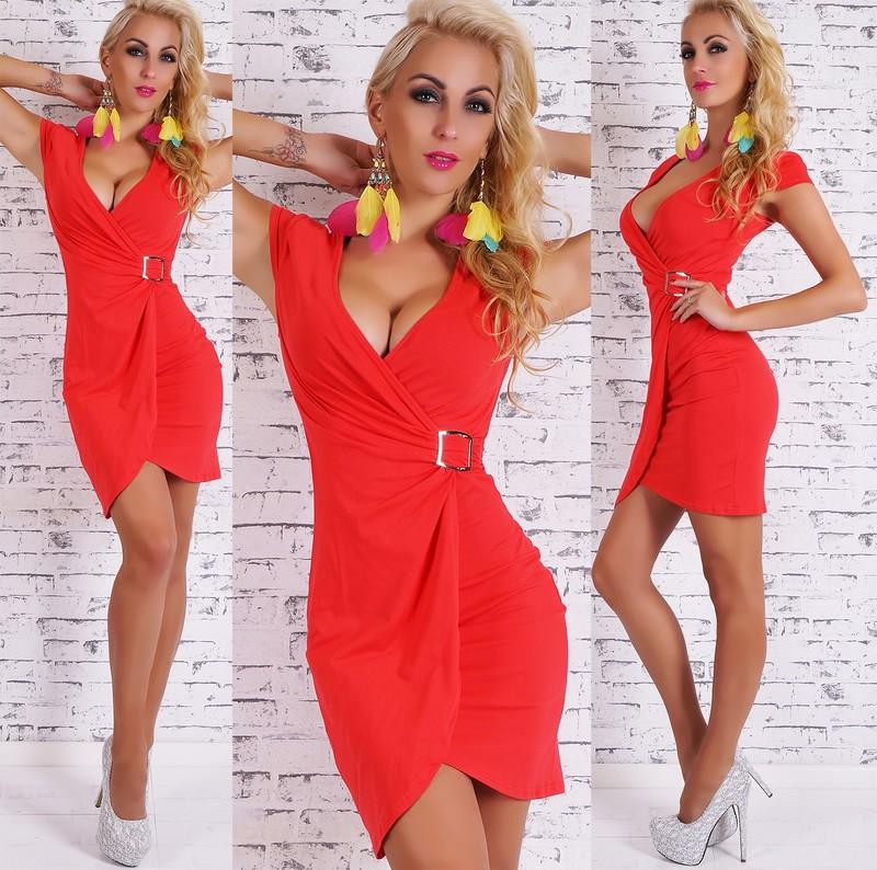 16703d5a273e Letné šaty červené - Giorgia - Večerné šaty a koktejlové šaty - vasa ...