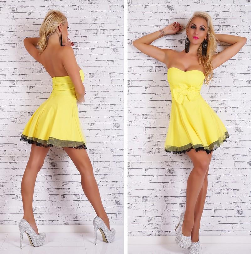 2b624c33e703 Krátké letní šaty žluté - EU - Večerní šaty a koktejlové šaty - i ...