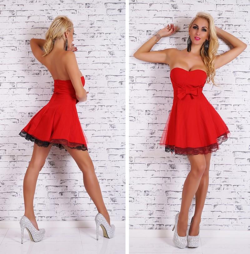 2d03bc742c41 Krátké dámské šaty červené - EU - Krátké plesové šaty - i-moda.cz
