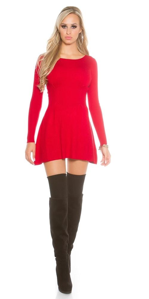 17d07828d7a2 Červené dámské šaty z úpletu - Koucla - Úpletové šaty - i-moda.cz
