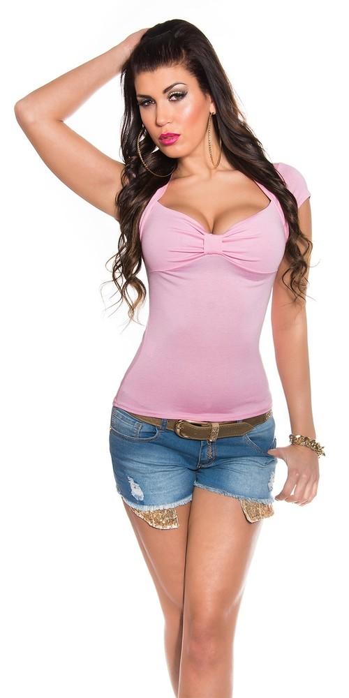 ac6a00134 Růžové dámske letné tričko - Koucla - Letné topy - vasa-moda.sk