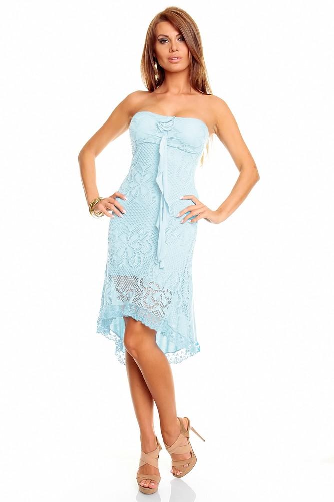 a29a3ee7f1e3 Letné šaty modré - Best Emilie - Krátke letné šaty - vasa-moda.sk