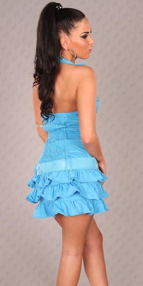 3b859b738 Letní mini šaty modré - Koucla - Krátké letní šaty - i-moda.cz