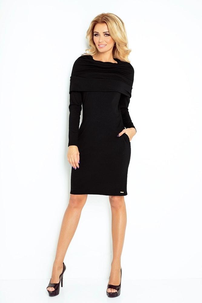 a8ef0c0cb1a7 Čierne dámske šaty 131-1 - Numoco - Business šaty - vasa-moda.sk