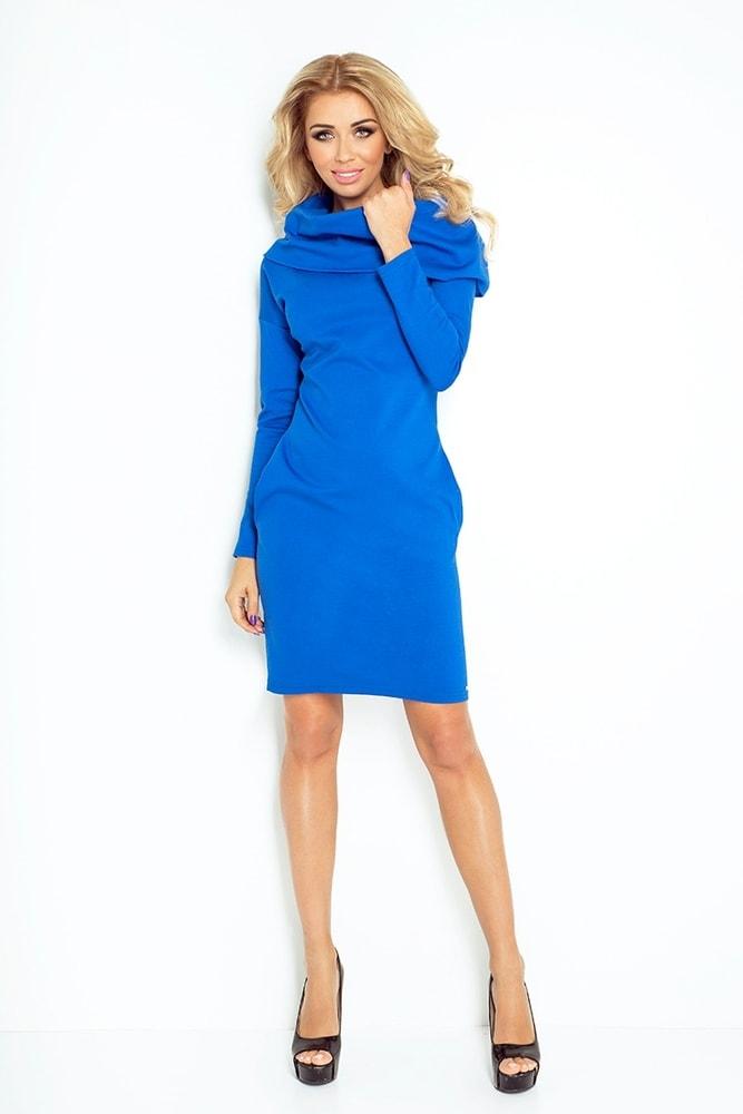 d6e52193ead6 Dámske šaty s golierom 131-2 - Numoco - Business šaty - vasa-moda.sk