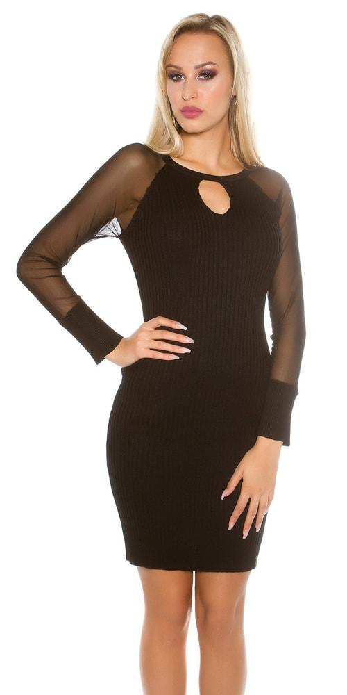 280c61a77b75 Úpletové šaty s dlouhými rukávy - Koucla - Úpletové šaty - i-moda.cz
