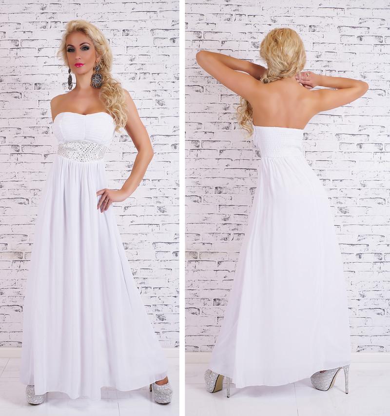 2d498b53c4 Dlhé biele večerné šaty - EU - Večerné šaty a koktejlové šaty - vasa ...