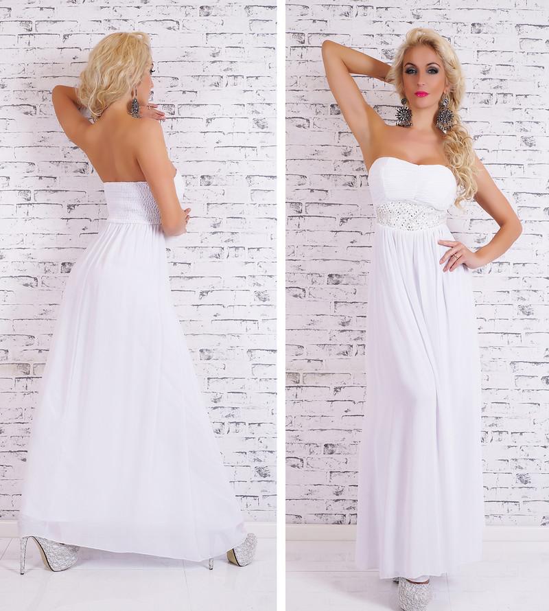 8955fe9298ba Dlhé biele večerné šaty - EU - Večerné šaty a koktejlové šaty - vasa ...