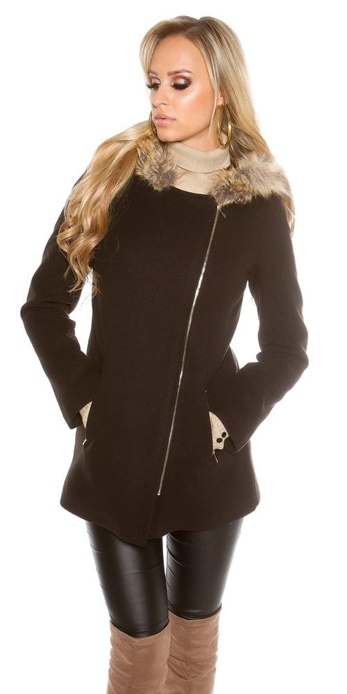 bd10f684453d Trendy kabát - Koucla - Dámske kabáty zimné - vasa-moda.sk