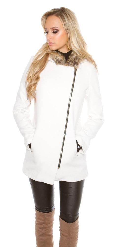 2828fe332fb5 Dámsky kabát s kapucňou - Koucla - Dámske kabáty zimné - vasa-moda.sk