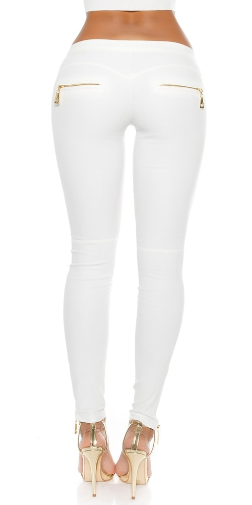 9f7c4476e2a3 Moderné biele nohavice - Koucla - Dámske nohavice - vasa-moda.sk