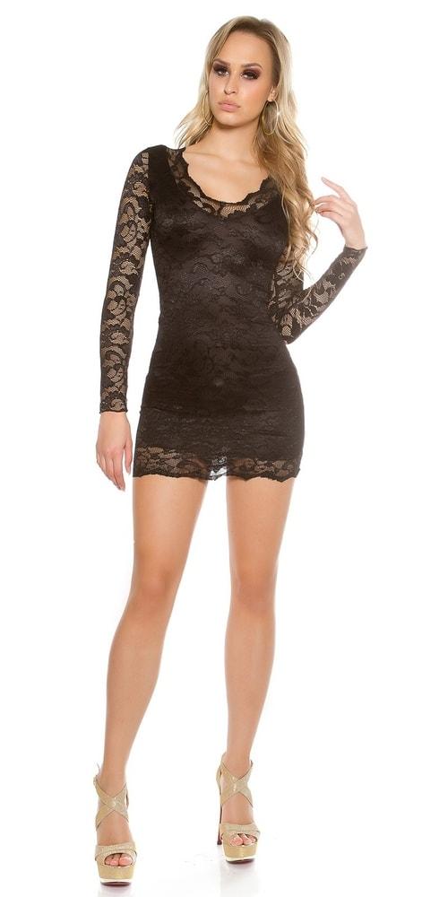 a202b689703a Čierne čipkované šaty - Koucla - Večerné šaty a koktejlové šaty ...