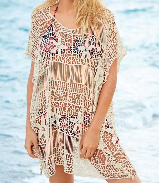 07da35d338f1 Háčkovaná plážová blúzka - DAMSON - Plážové šaty - vasa-moda.sk