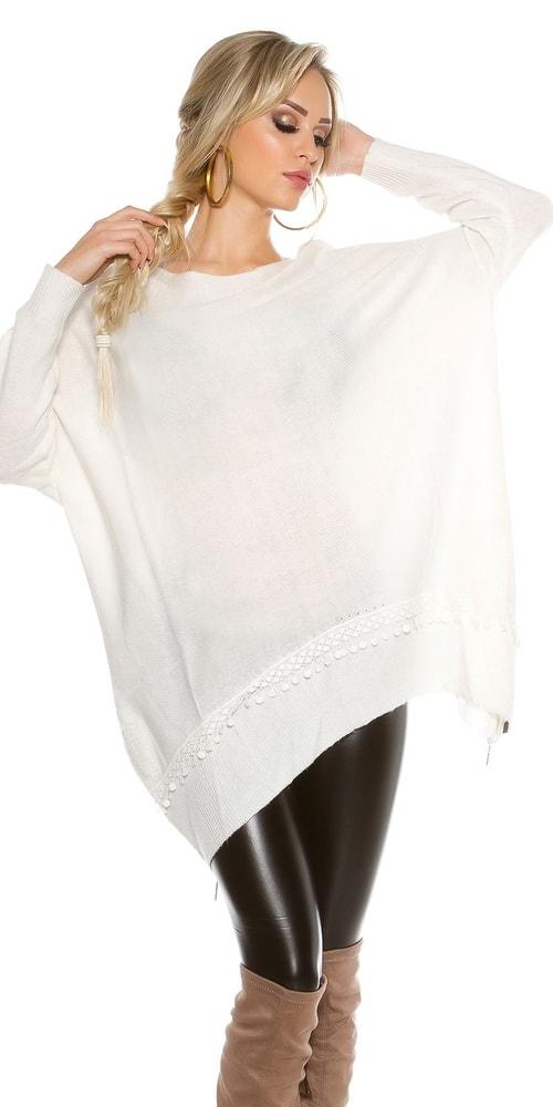 23f82d210282 Dámsky sveter so zipsami - Koucla - Dlhé svetre k legínam - vasa ...